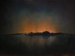 Landscape art,Surrealism art,oil painting,The Moon is Down