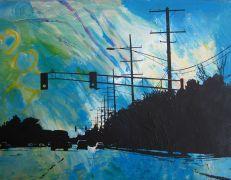 abstract art,expressionism art,pop culture art,vroom vroom! art,mixed media artwork,Road Trip 7