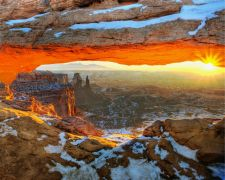 landscape art,nature art,western art,photography,Sunrise at Mesa Arch