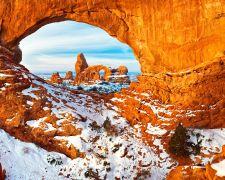 landscape art,nature art,western art,photography,Turret Arch Through North Window