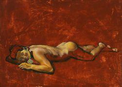 Abstract art,Nudes art,mixed media artwork,Angela