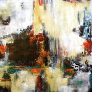 abstract art,acrylic painting,Urban Farewell