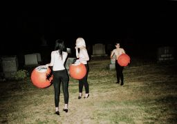 people art,surrealism art,photography,Pumpkin Heads (Grave Yard Girls)