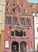 Architecture art,acrylic painting,Prague, Czechoslovakia