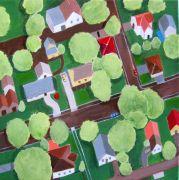 Architecture art,Pop art,acrylic painting,Jackson County