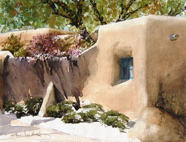Original art for sale at UGallery.com   Lilacs In Santa Fe by Charles Ash   $475   watercolor painting   16' h x 20' w   http://www.ugallery.com/watercolor-painting-lilacs-in-santa-fe