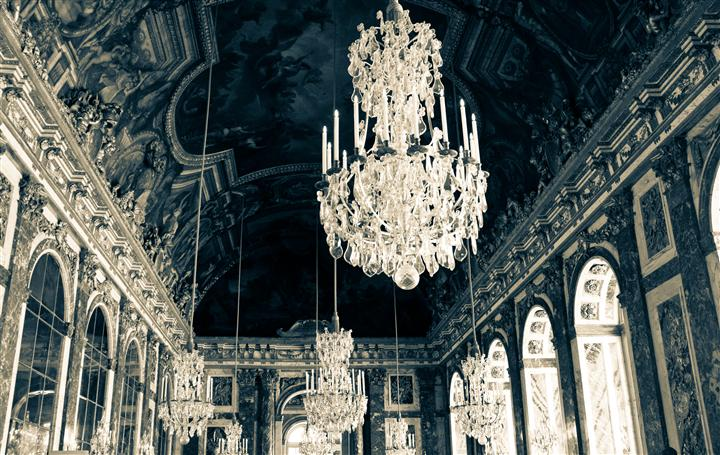 Original art for sale at UGallery.com | Hall of Mirrors - Versailles, France by Rebecca Plotnick | $400 | photography | 40' h x 30' w | ..\art\photography-Hall-of-Mirrors-Versailles-France