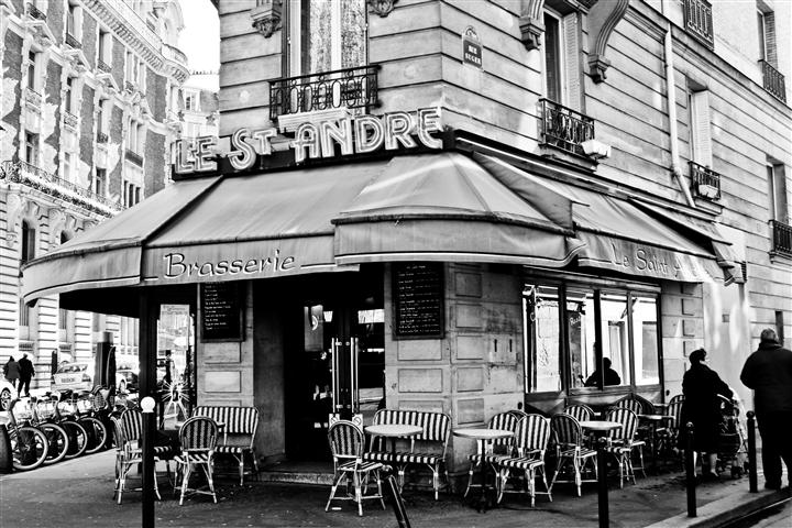 Original art for sale at UGallery.com | Parisian Brasserie by Rebecca Plotnick | $175 | photography | 36' h x 24' w | http://www.ugallery.com/photography-parisian-brasserie