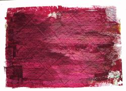 Abstract art,printmaking,Untitled (Red with Squares)