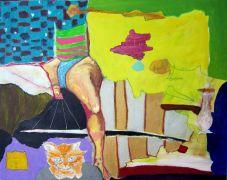 Surrealism art,acrylic painting,Linda's Legs and Alvin