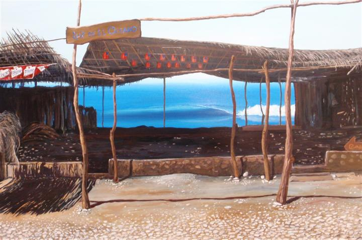 Original art for sale at UGallery.com   El Salvador El Zonte  by Keith Higgins   $2,000   oil painting   25' h x 40' w   http://www.ugallery.com/oil-painting-el-salvador-el-zonte