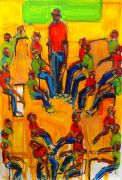 Expressionism art,People art,acrylic painting,When You Speak They Will Listen