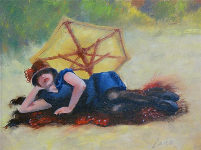 impressionism art,people art, oil painting, Malibu During the Jazz Age