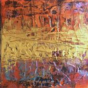 Abstract art,acrylic painting,Nile River