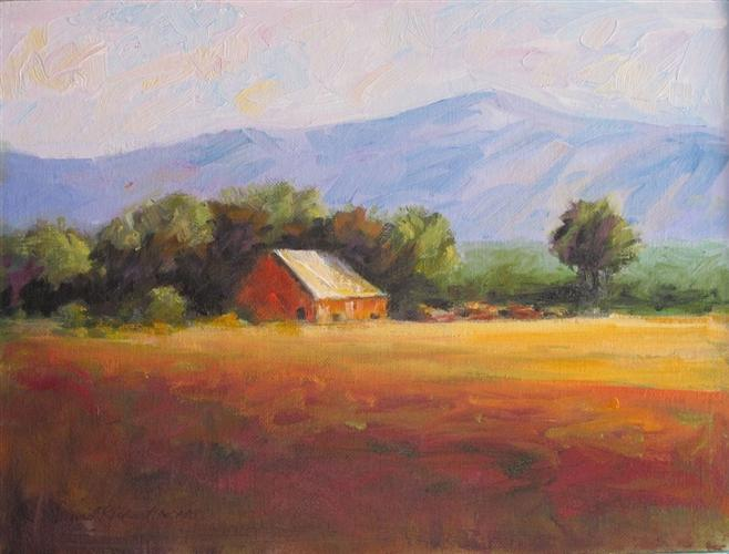 Original art for sale at UGallery.com | Morning, Ramona by David Rickert | $650 | oil painting | 9' h x 12' w | http://www.ugallery.com/oil-painting-morning-ramona