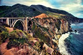 Seascape art,Travel art,photography,Bixby Bridge in the Haze of Summer
