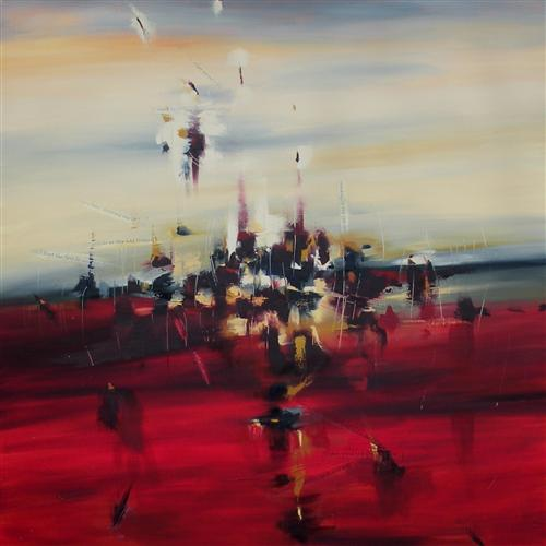 Original art for sale at UGallery.com | Blaze of Noon by Cynthia Ligeros | $2,375 | oil painting | 36' h x 36' w | http://www.ugallery.com/oil-painting-blaze-of-noon