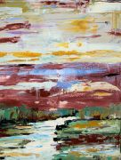 abstract art,landscape art,acrylic painting,Reflections