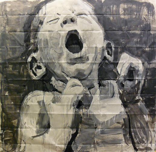 Original art for sale at UGallery.com | Giant Baby #2 by Sara Sisun | $2,400 | other media | 84' h x 72' w | http://www.ugallery.com/other-media-giant-baby-2