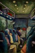 people art,pastel artwork,Traveling Home