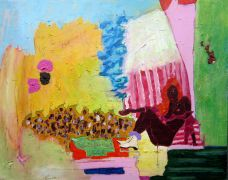 expressionism art,nature art,nudes art,people art,acrylic painting,Capital Ice