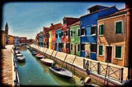 Architecture art,Travel art,photography,Burano Island in Venetian Lagoon
