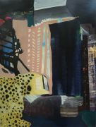 abstract art,buildings art,mixed media artwork,Urban Mystery 231