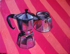 pop culture art,still life art,oil painting,Pink Coffee