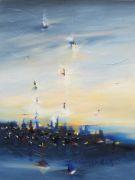 Abstract art,Landscape art,oil painting,Spirit of Night