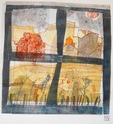 Abstract art,Expressionism art,Landscape art,printmaking,LookingGlass2
