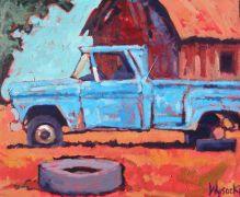 Impressionism art,Vroom Vroom! art,Western art,acrylic painting,Blue Memories