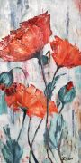 Expressionism art,Flora art,oil painting,Poppy Field
