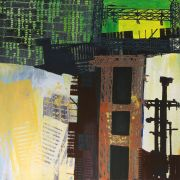 Abstract art,Architecture art,acrylic painting,Urban Mystery 219
