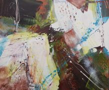 Abstract art,acrylic painting,Trummerbop