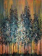 Flora art,oil painting,At Dusk