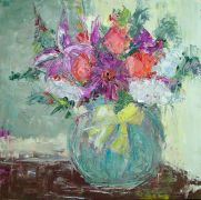 Impressionism art,Flora art,oil painting,Special Day Bouquet