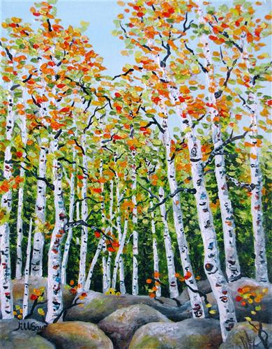 Original art for sale at UGallery.com   Autumn Inspiration by Jill Saur   $400   acrylic painting   14' h x 11' w   ..\art\acrylic-painting-Autumn-Inspiration
