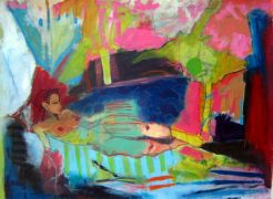 Abstract art,Expressionism art,Nudes art,People art,Surrealism art,mixed media artwork,Resplendent