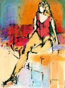 people art,acrylic painting,On the Diagonal