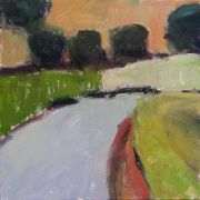 Abstract art,Landscape art,acrylic painting,Road to Field, France