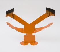 people art,pop culture art,sculpture,Niralamba Sirsasana (Unsupported Headstand)