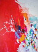 Abstract art,Expressionism art,mixed media artwork,Midsummer Night