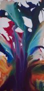 Abstract art,acrylic painting,Violets