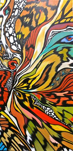 abstract art,animals art, acrylic painting, Butterfly Effect
