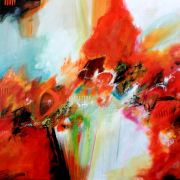 Abstract art,acrylic painting,Caliente