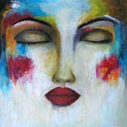 People art,acrylic painting,Mientras Ella Duerme