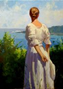 impressionism art,people art,oil painting,Summer, 2010