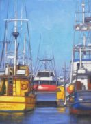 seascape art,vroom vroom! art,oil painting,Working Boats