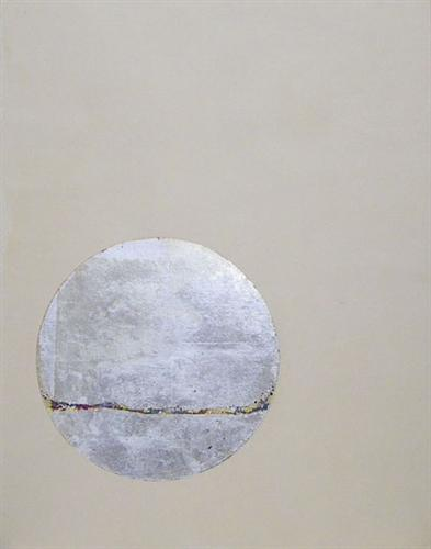 abstract art, mixed media artwork, Inversion -circle- No.3. 2011