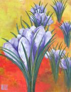 botanical art,oil painting,First Warmth of Spring Crocus